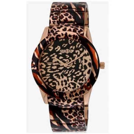 GUESS Rose Gold Animal Print Stainless Steel W0425L3